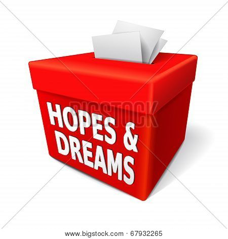 Hopes And Dreams Words On The Red Box