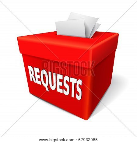 Requests Word On The Red Box
