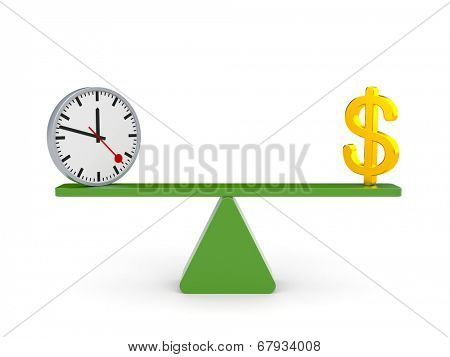 White character between time and money