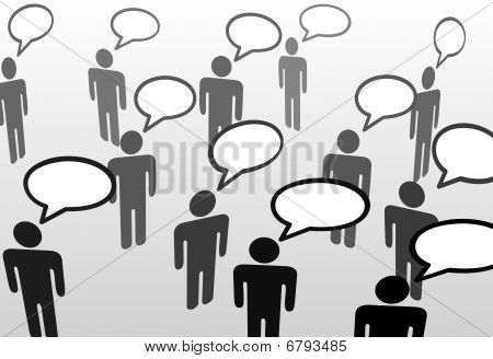 Everybodys Talking Speech Bubble Communication People
