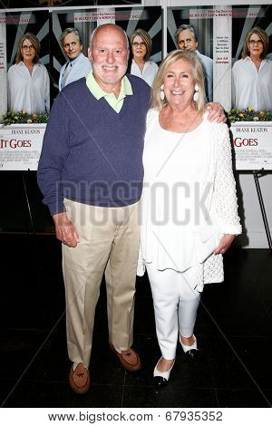 EAST HAMPTON, NEW YORK-JULY 6: Film executive Michael Lynne (L) and wife Ninah Lynne attend the premiere of