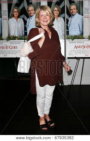 EAST HAMPTON, NEW YORK-JULY 6: TV personality Martha Stewart attends the premiere of