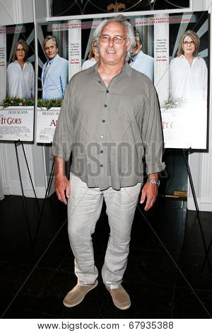 EAST HAMPTON, NEW YORK-JULY 6: Painter Eric Fischl attends the premiere of