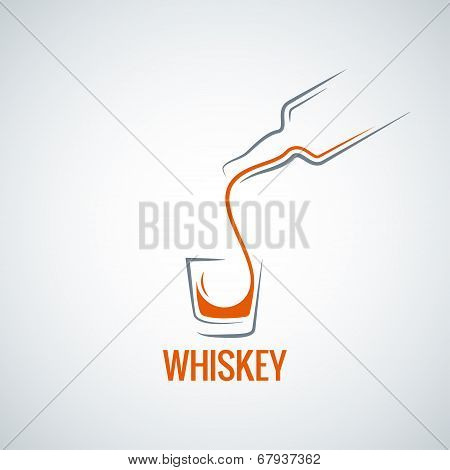 whiskey glass bottle shot splash background