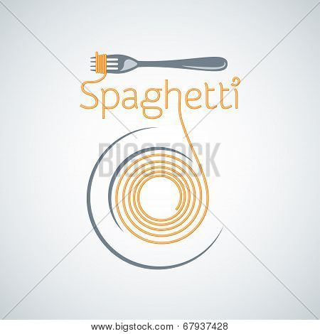 spaghetti pasta plate fork background