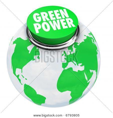 Green Power - Earth Button
