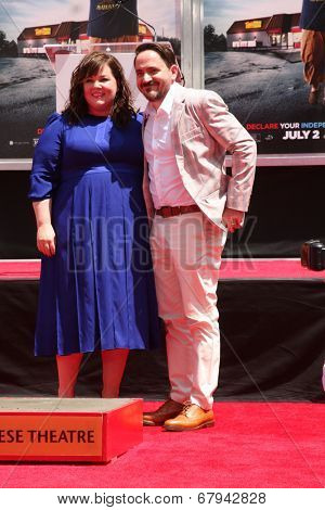 LOS ANGELES - JUL 2:  Ben Falcone, Melissa McCarthy at the Melissa McCarthy Hand and Footprint Ceremony at the TCL Chinese Theater on July 2, 2014 in Los Angeles, CA