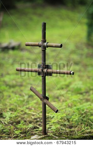 The Iron Cross on a grave