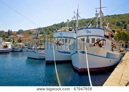 Adriatic Fishermen Village Of Kali