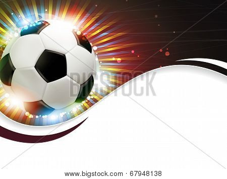 Soccer Ball And Fireworks