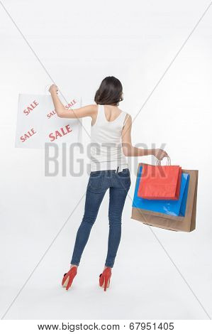 Girl and shopping