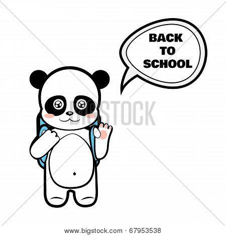 Panda schoolboy