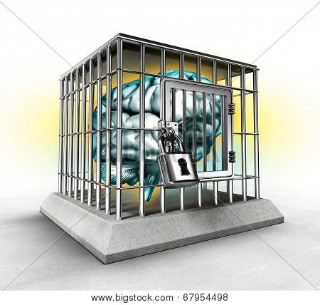 Human Brain In A Cage