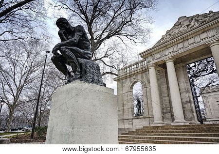 The Thinker- Entrance to Rodin Museum
