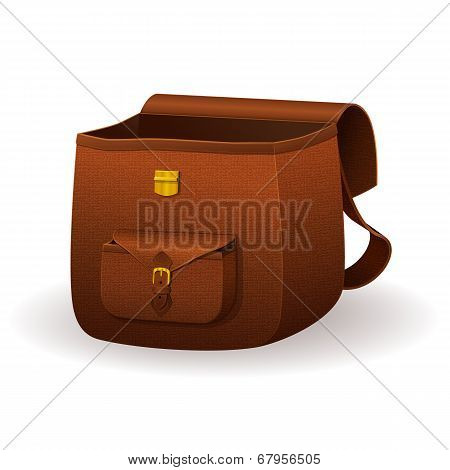 Realistic leather satchel