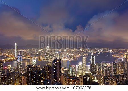 Hong Kong City View From Victoria Peak