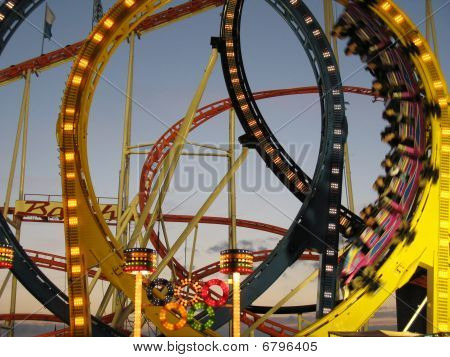 roller coaster on a fair
