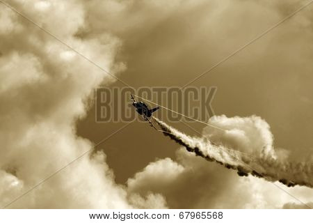 Armed Fighter Jet Fly In The Sky