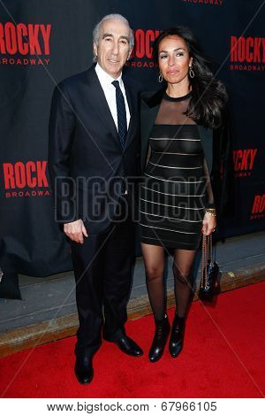 NEW YORK-MAR 13: Film producer Gary Barber (L) and wife Nadine Barber attend the 'Rocky' Broadway opening night at the Winter Garden Theatre on March 13, 2014 in New York City.