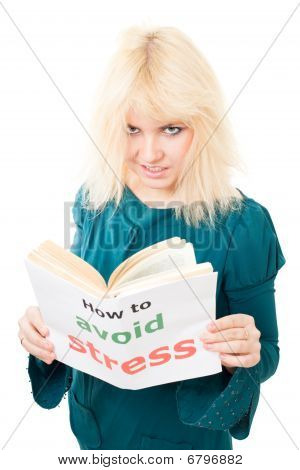 Stressed Woman With Tousle Try To Avoid Stress