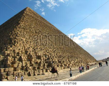 Pyramid of Cheops at Giza, Egypt