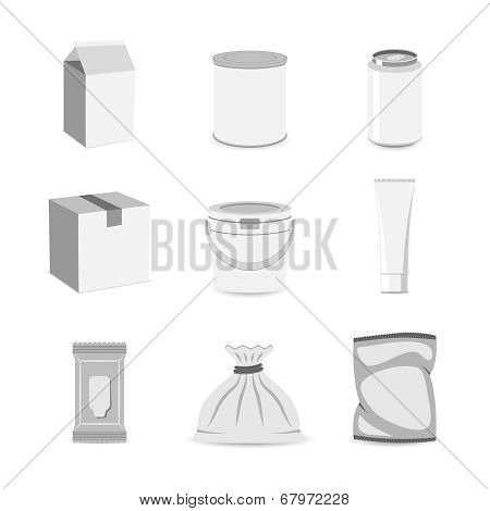Pack container icon flat
