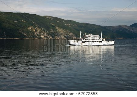 Ferry Boat In Adriatic Sea