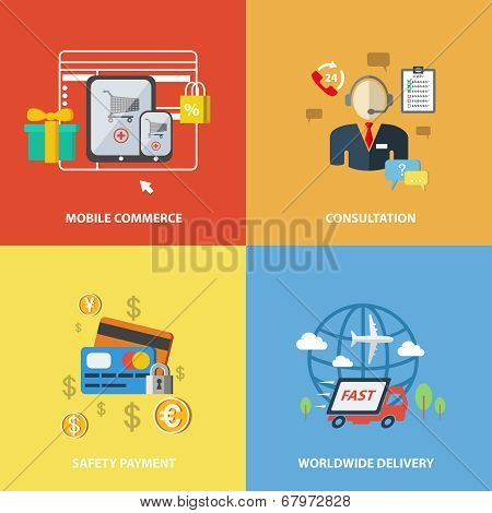 Shopping e-commerce elements