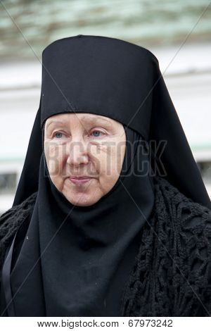 Orthodox Christianity: Mother Superior At The Resurrection Convent Nunnery.