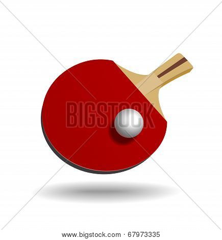 Racket for table tennis.