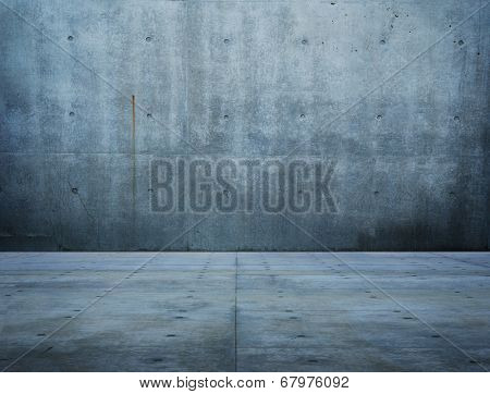 Large space of raw concrete.