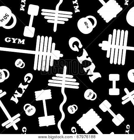 Gym. Seamless vector pattern.
