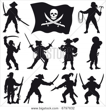 Pirates Crew Silhouettes Set