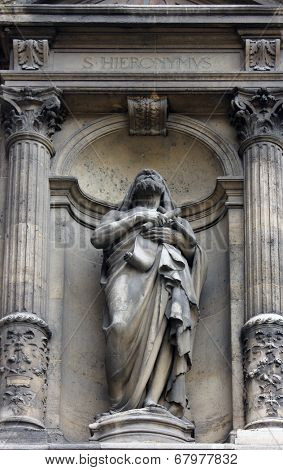 PARIS, FRANCE - NOV 09, 2012: Saint Jerome, Holy Trinity church is a Catholic church located in the 9th arrondissement. The church of the Second Empire period, built between 1861 and 1867