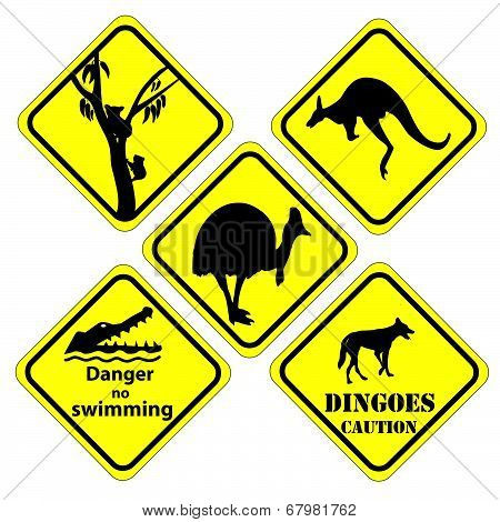 Australian Set Of Signs