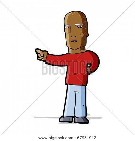 cartoon tough guy pointing