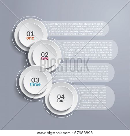 Infographics background with white circles and area for your text