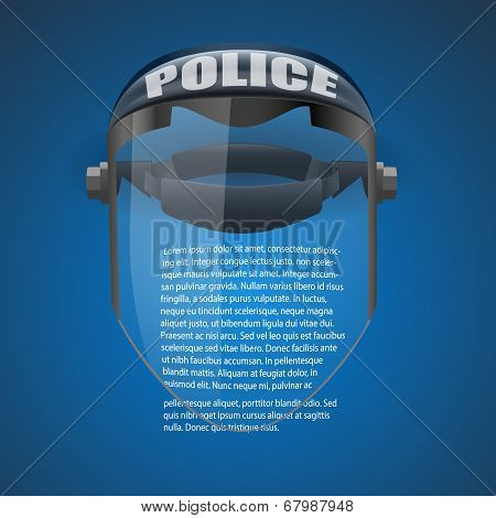 Background of Police protect mask. Vector Illustration.