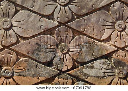 Flower Brick Wall Texture