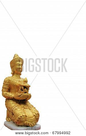 deva statue with the white background