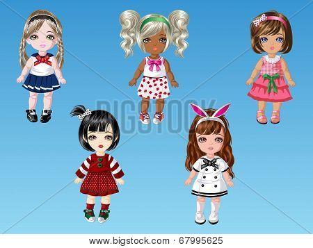 Cartoon Doll Girls Dress Up 2