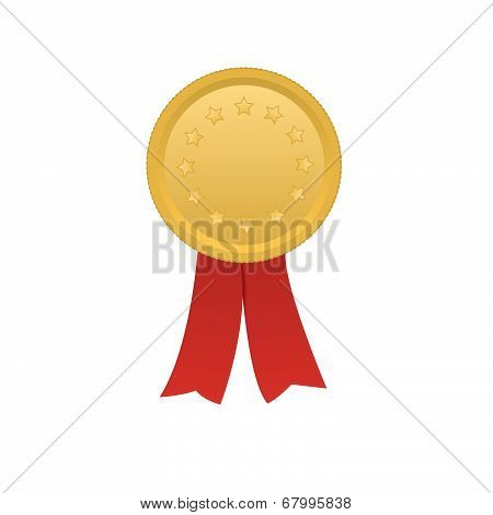 Vector Award Medal Rosette Label