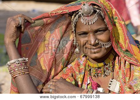 India Rajasthani Woman