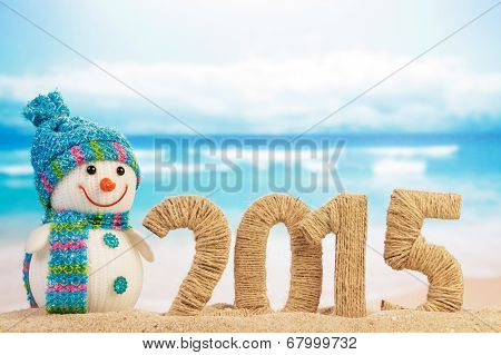 New year 2015 sign