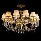pic of chandelier  - Vintage chandelier isolated on black background with clipping path - JPG