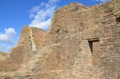 image of pueblo  - The Aztec Ruins National Monument preserves ancestral Pueblo structures in north - JPG