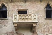 stock photo of juliet  - The famous balcony of Romeo and Juliet in Verona Italy - JPG