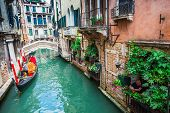stock photo of gondola  - VENICE ITALY  - JPG