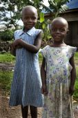 Two Girls in Ugandan Village