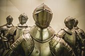stock photo of armor suit  - Antique Medieval iron armor - JPG